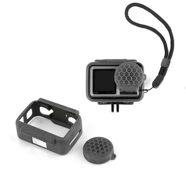 Schokbestendig Beschermende silicagel Lens Cover For a DJI OSMO Actie Camera Accessoires Protector Case Lens Cap For a OSMO ACTION
