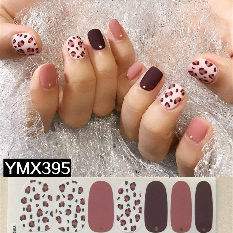 1 Sheet Fashion <font><b>Nail</b></font> Leopard Designs Stencil for <font><b>Nail</b></font> Decorations Manicure Adhesive Tips <font><b>Stickers</b></font> 3D <font><b>Sexy</b></font> Polish Wraps Accessory image