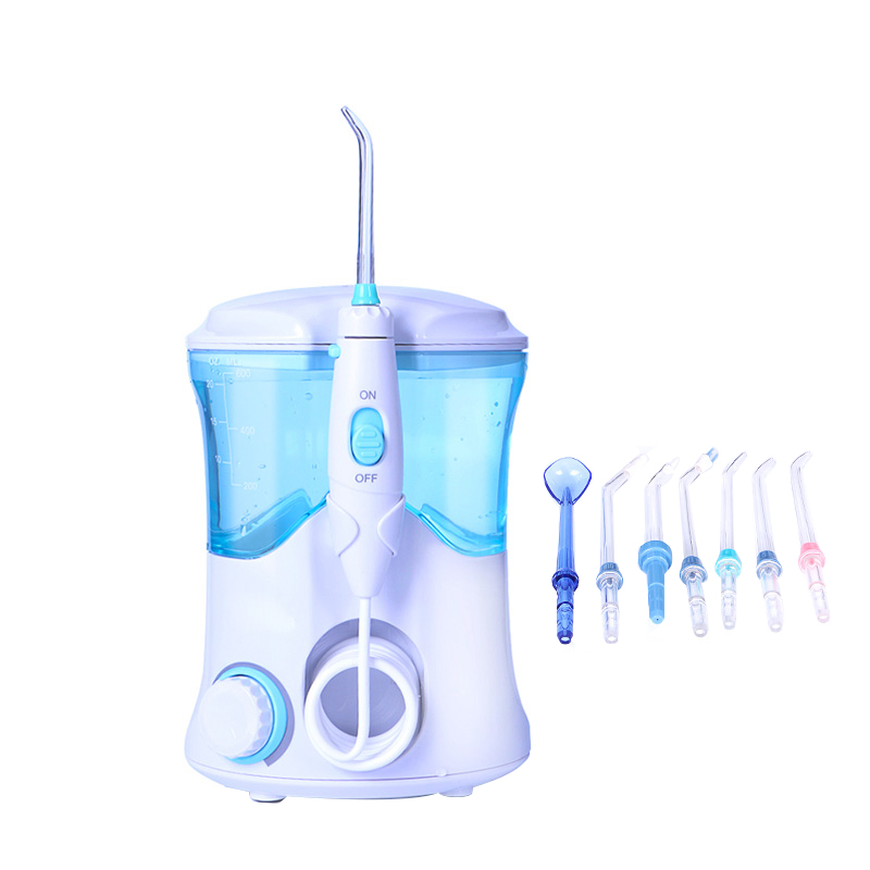 Eau dentaire Flosser Oral Dent Jet multifonctionnel irrigateur Kit de soins dentaires dents nettoyant eau Pick avec 7 buses US Plug/EU