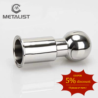 METALIST 51mm Pipe OD SS304 Sanitary Fitting Rotary Spray Ball Tank Cleaning Ball 64mm Ferrule OD Fit 2 Tri Clamp