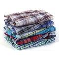 5 Pcs Herren Unterwäsche Boxer Shorts Casual Baumwolle Schlaf Unterhose Qualität Plaid Lose Komfortable Homewear Asiatische Größe