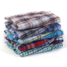 Боксеры мужские хлопковые в клетку, нижнее белье, свободные повседневные шорты для сна, удобная домашняя одежда азиатского размера, 5 шт.