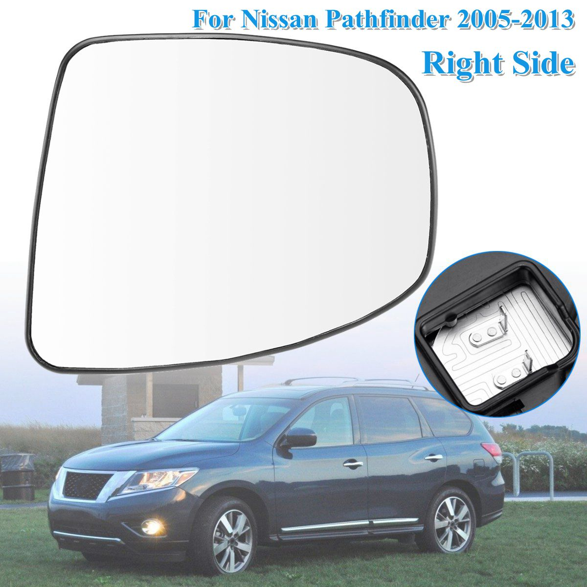 Door Mirror Glass New Replacement Passenger Side Pathfinder 2013