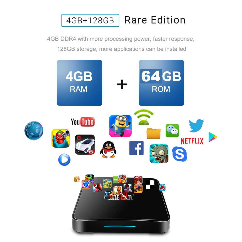 Mecool TV BOX KM3 4G RAM + 64G ROM Amlogic S905X2 Quad core 2.4G/5G WIFI Android9.0 TVBOX USB Bluetooth smart home décodeur
