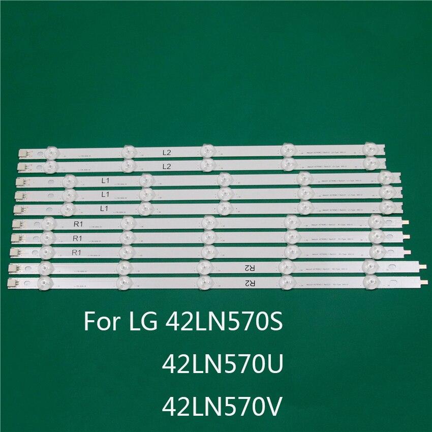 LED TV Illumination Part For LG 42LN570V 42LN570S 42LN570U LED Bars Backlight Strips Line Ruler 42