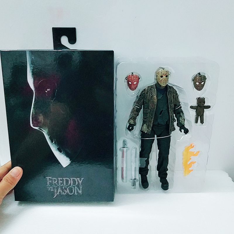 2019 New Type NECA Freddy Jason FVJ Ultimate Jason Voorhees Action Figure Model Toys Doll For Gift
