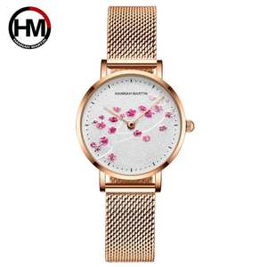 Japan Quartz Movement 10D Red Plum Blossom Genuine Leather Band Female Watch Ladies Wristwatches New Design Watches For Women