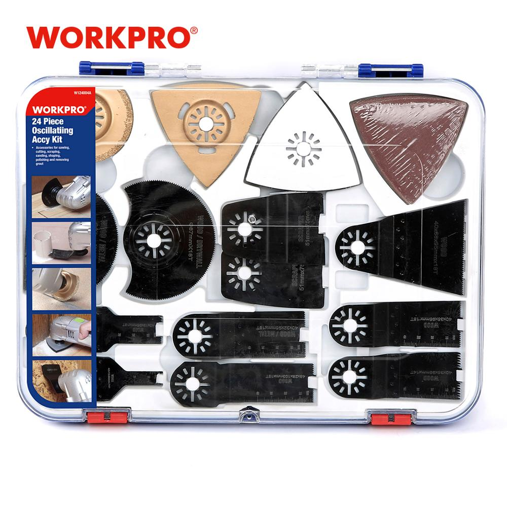 WORKPRO 24PC Power Saw Blades Oscillatiing Tool Accessories For Electric Saw Power Tool Accessories