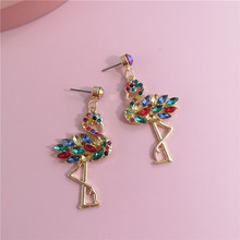 TOYOOSKY Luxury Version of The New Style Retro Crystal Pendant Earrings Ladies Elegant Colorful Rhinestone Jewelry