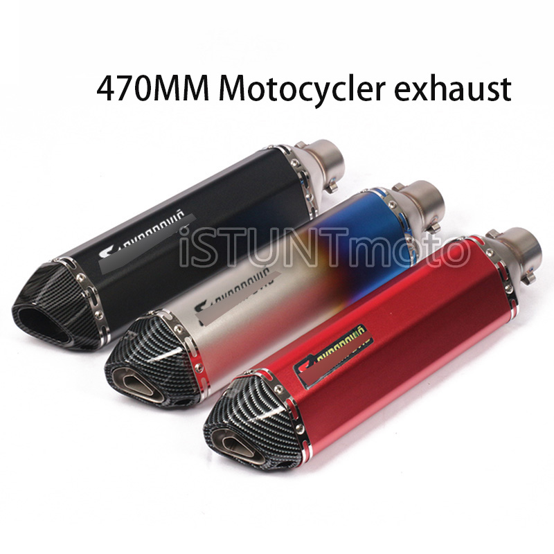 Scooter Muffler Escape Exhaust-Pipe MT07 470mm CBR250 Silencer Db Killer FZ6 Motorcycle