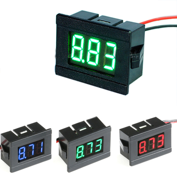 0.36in Digital Voltmeter DC 4.5V to 30V Digital Voltmeter Voltage Panel Meter Red/Blue/Green For Electromobile Motorcycle Car image