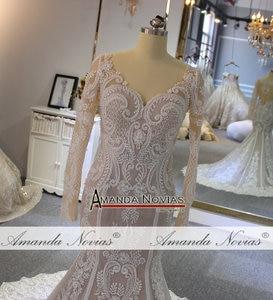 Image 2 - Lace mermaid wedding dress customer order color 2019 bride dress