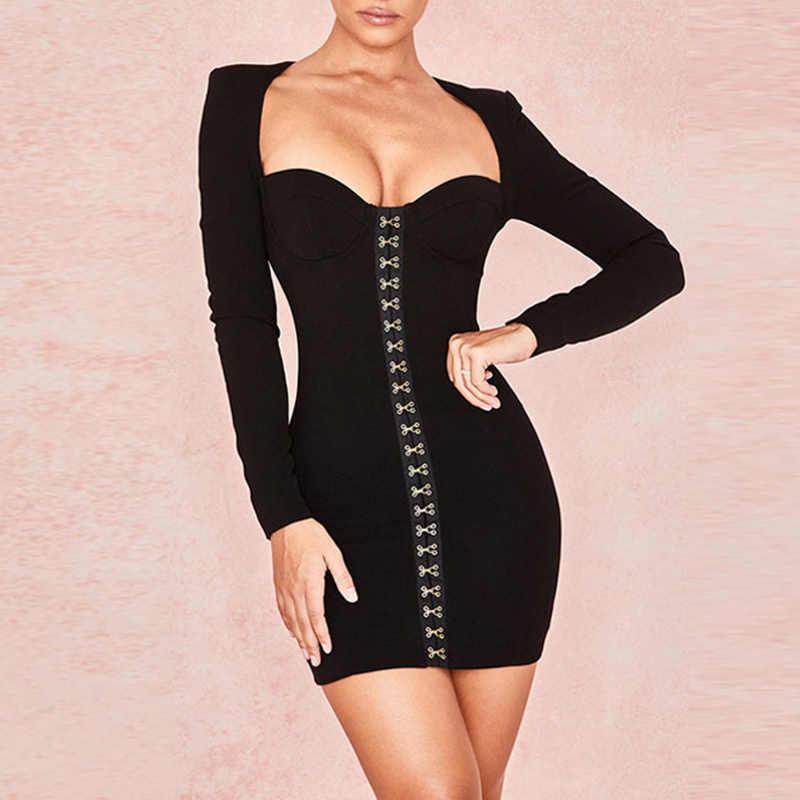 Новое осенне-зимнее платье на пуговицах женское платье Vestido черные платья сексуальные платья женские вечерние платье для ночного клуба платья женские