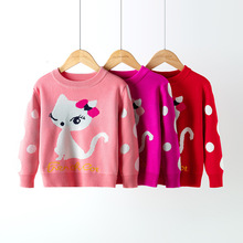 2019 Autumn Winter Knitted Sweater Children Clothing Boys Girls Sweaters Kids Cartoon Pure Cotton Pullover Clothes