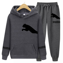 Pumba-Men's Hoodie Set Brand Sportswear Sweatshirt + Sports Pants Spring And Autumn Casual Suit New Young Fashion Printing 2021