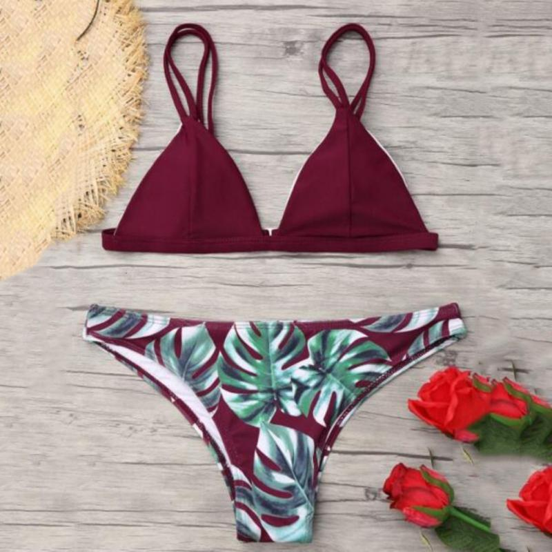New Sexy Women Bikinis Swimsuit Women's Bikini Cut Hawaii Two Piece Swimsuit Swimwear Pushups Swimwear Beachwear Bikini Set Bra