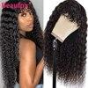 Beaufox-شعر مستعار مموج طبيعي مع هامش ، شعر بشري ماليزي ، بدون غراء ، مصنوع آليًا ، شعر ريمي ، للنساء الأفريقيات
