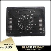 Черный белый тонкий usb-вентилятор для ноутбука с подсветкой, охлаждающая подставка для ноутбука, охлаждающая подставка для ноутбука с 140 мм светодиодный вентилятор охлаждения