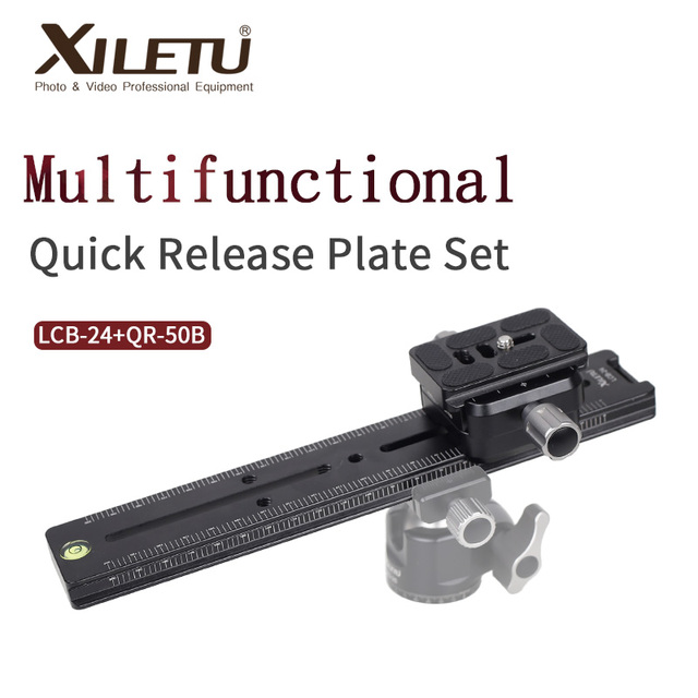XILETU LCB 24B Track Dolly Slider Focusing Focus Rail Slider & Clamp and QR Plate Meet Arca Swiss For DSLR Camera Canon