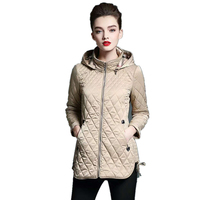 Hooded Ladies Coat Long Coats Parka oversize Colour jacket mid long women winter thick jacket down jacket women winter S XXL