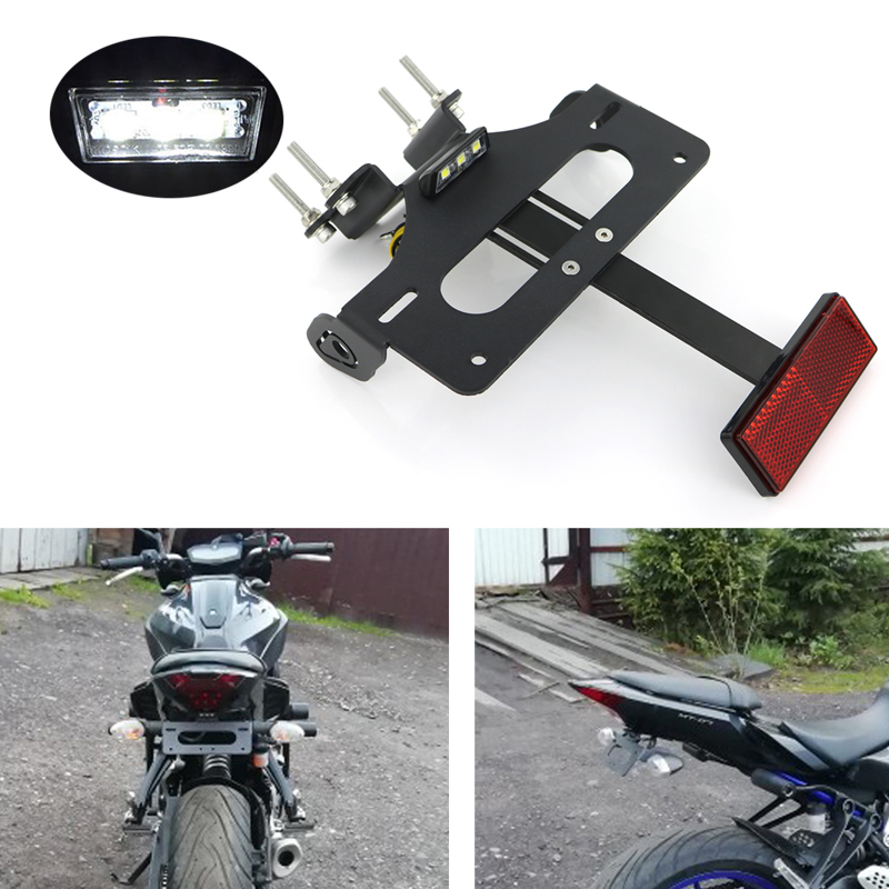 Bracket Tail-Tidy-Fender-Eliminator-Kit License-Plate-Holder FZ-07 MT07 Yamaha for Rear title=