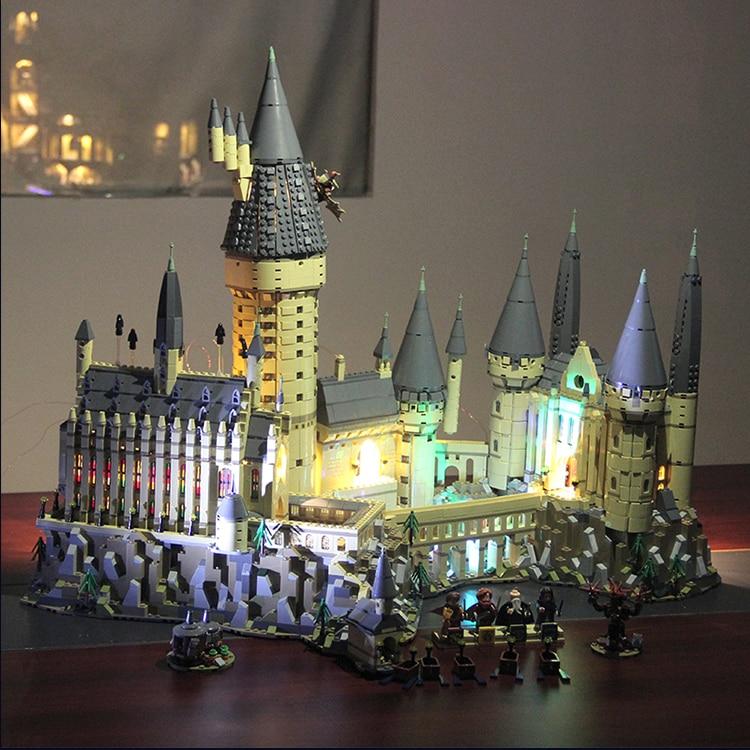 DIY Light Compatible 71043 Hogwart Castle Building Blocks Harryed Pottery Magic School DIY Bricks For Kids Toys Children Gift