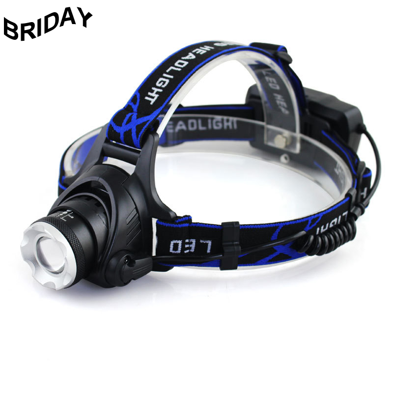 LED Headlamp Zoomable Powerful T6 Head Flashlight Torch Sensor High Power Rechargeable Light Forehead Lamp USB Fishing Camping