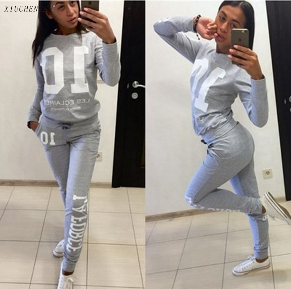 Drees Women Tracksuit Two Piece Set Outfit Casual Letter Pullover Trousers Joggers Club Sets Cheap Sexy Winter Crewneck Clothes