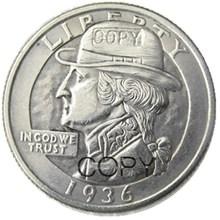 Hobo Creative 1936 Washington Quarter Dollars Skull Zombie Skeleton Hand Carved Copy Coins недорого