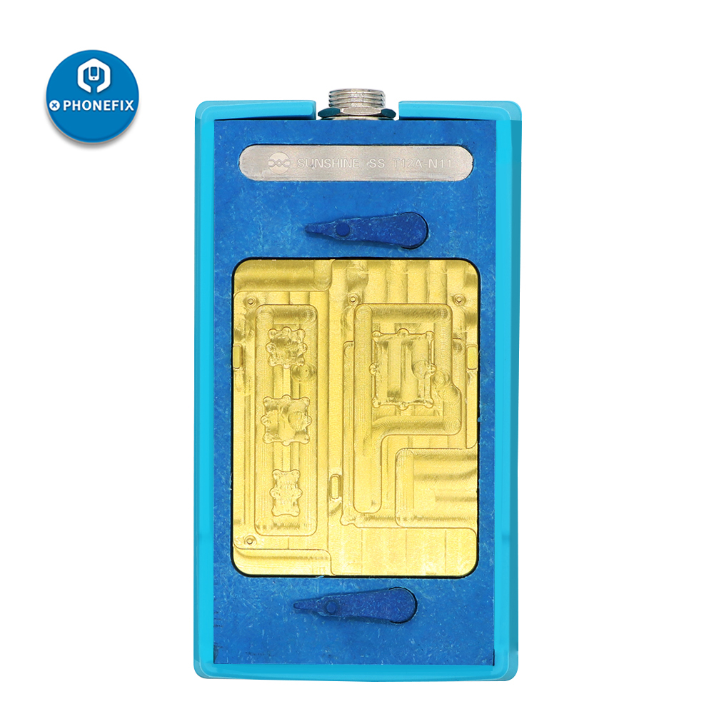 SS-T12A N11Desoldering Station T12A-N11 Heating Groove Preheating Separating for iPhone 11/11Pro/11Pro Max A13 CPU NAND Heating