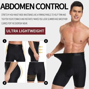 Image 4 - גברים גוף Shaper הרזיה מכנסיים קצרים גבוהה מותן Shapewear דוגמנות בוקסר למתוח בטן בקרת אבנט מעלית במיוחד תחתונים