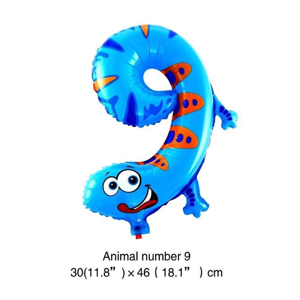 6 дюймов животные мультфильм номер фольги Воздушные шары вечерние шляпы цифры воздушные шарики для день рождения вечерние игрушки для детей - Цвет: WJ106-9