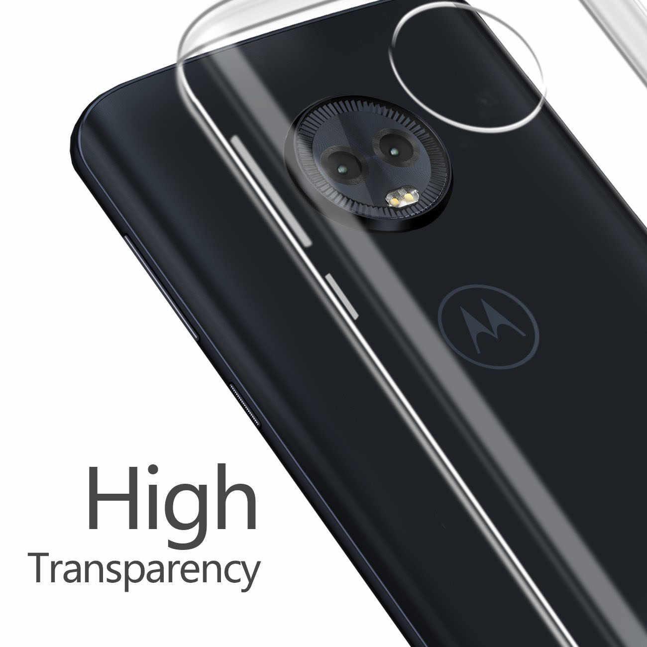 2018 CLEAR Soft TPU สำหรับ Motorola Moto G6 Plus กรณีเล่นโปร่งใสซิลิโคน MotoG6 G6Play G6Plus ถุงเจล