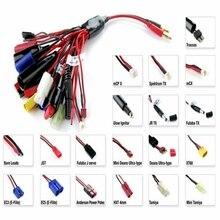 19 in 1 19 in 1 lipo pil şarj Adaptörü Dönüştürme Kablosu Muz Fişi Traxxas/JST/FUTABAS /T Fiş/XT60/EC3/EC5/Hxt 4 MM/TAMIYAS