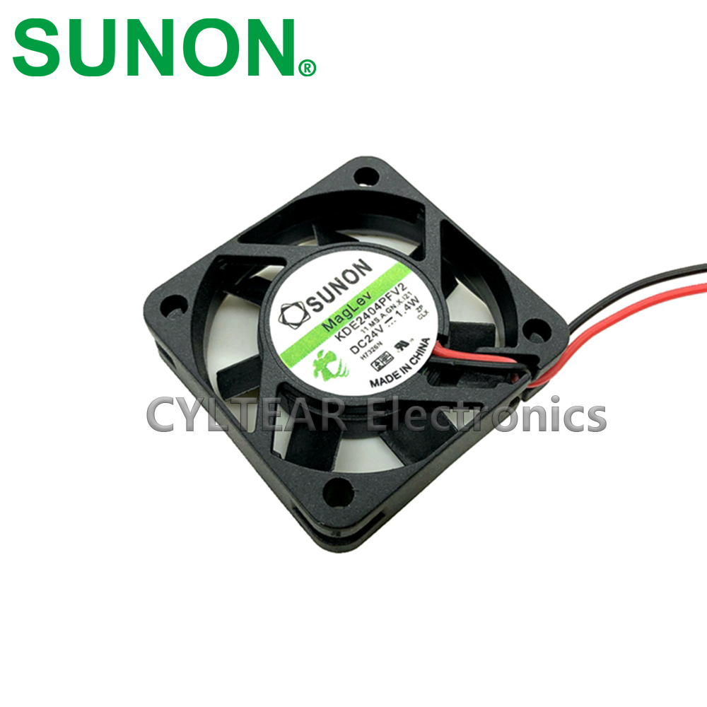For SUNON KDE2404PFV2 4010 COOLER 24V 1.4W 2pin Mute Maglev Cooling Fan 40X40X10MM