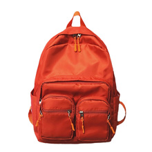 Women Fashion Backpack Nylon Waterproof Multi Pocket Travel Bag Leisure Backpack Preppy Shoulder Bag Teenagers School Bags