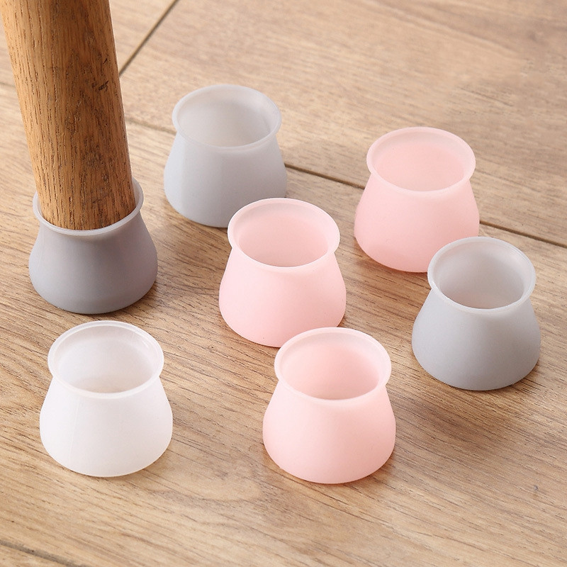 4pcs Table Chair Leg Floor Feet Cap Cover Protector Feet Pads Non-slip Table Chair Leg  Foot Protection Furniture Accessories