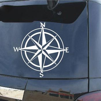 Car Sticker Unique Compass Pattern Car Truck Window Decal Reflective Sticker Decoration car accessories автомобильные товары image