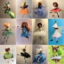 Jiwuo Non finished Women Handmade Pocket Animal Pet Doll Toy Handcraft Fairy Wool Needle Felting Material Bag Kit Hot Sale