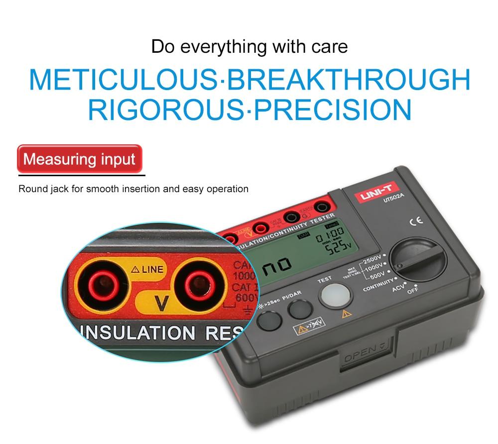 de isolamento digital tester megohmmeter altamente voltímetro
