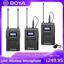 Boya BY-WM8 pro k2 k1 kit receptor transmissor de microfone sem fio para transmissão ao vivo conferência eng efp dslr gravação vídeo mic