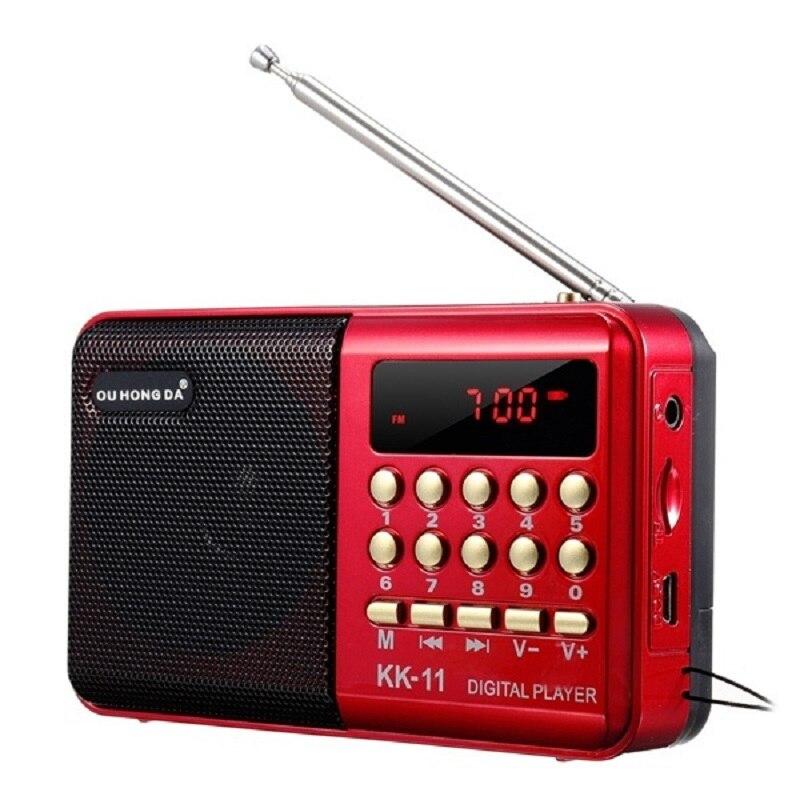 Приемник радиоприемник K11 FM Dab, портативный стереоприемник, ручной цифровой USB-вкладыш, TF МП, 3 плеера, динамик, перезаряжаемое радио радиопри...