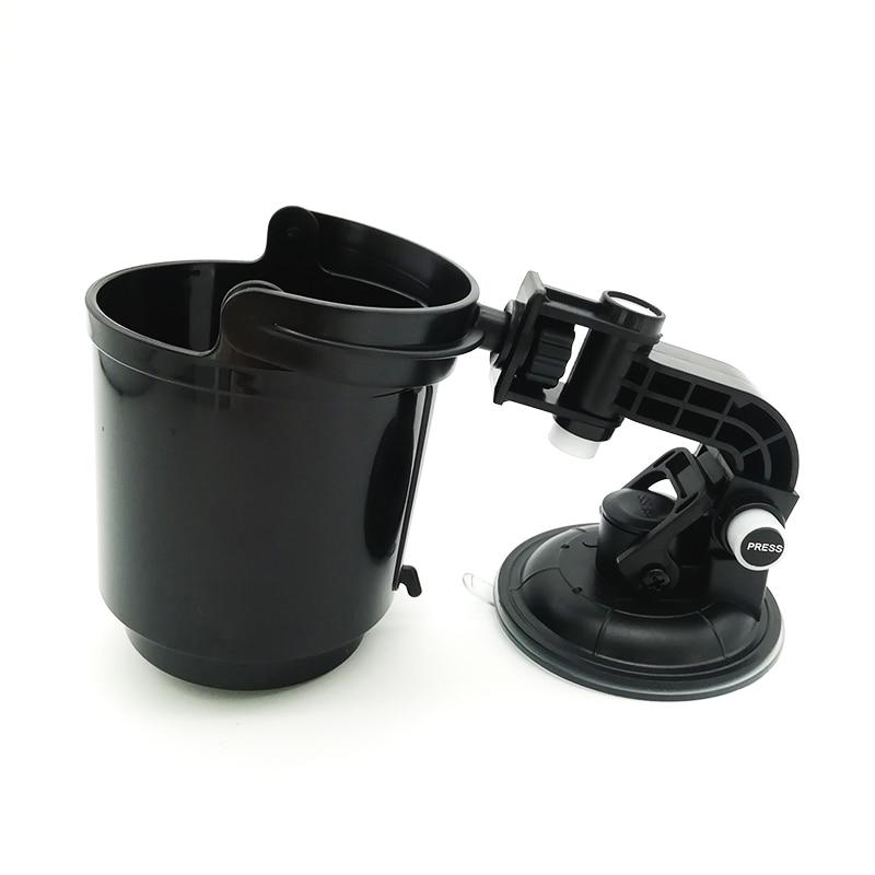 Car Vehicle Window Adjustable Suction Black Cup Mount Drink Beverage Holder