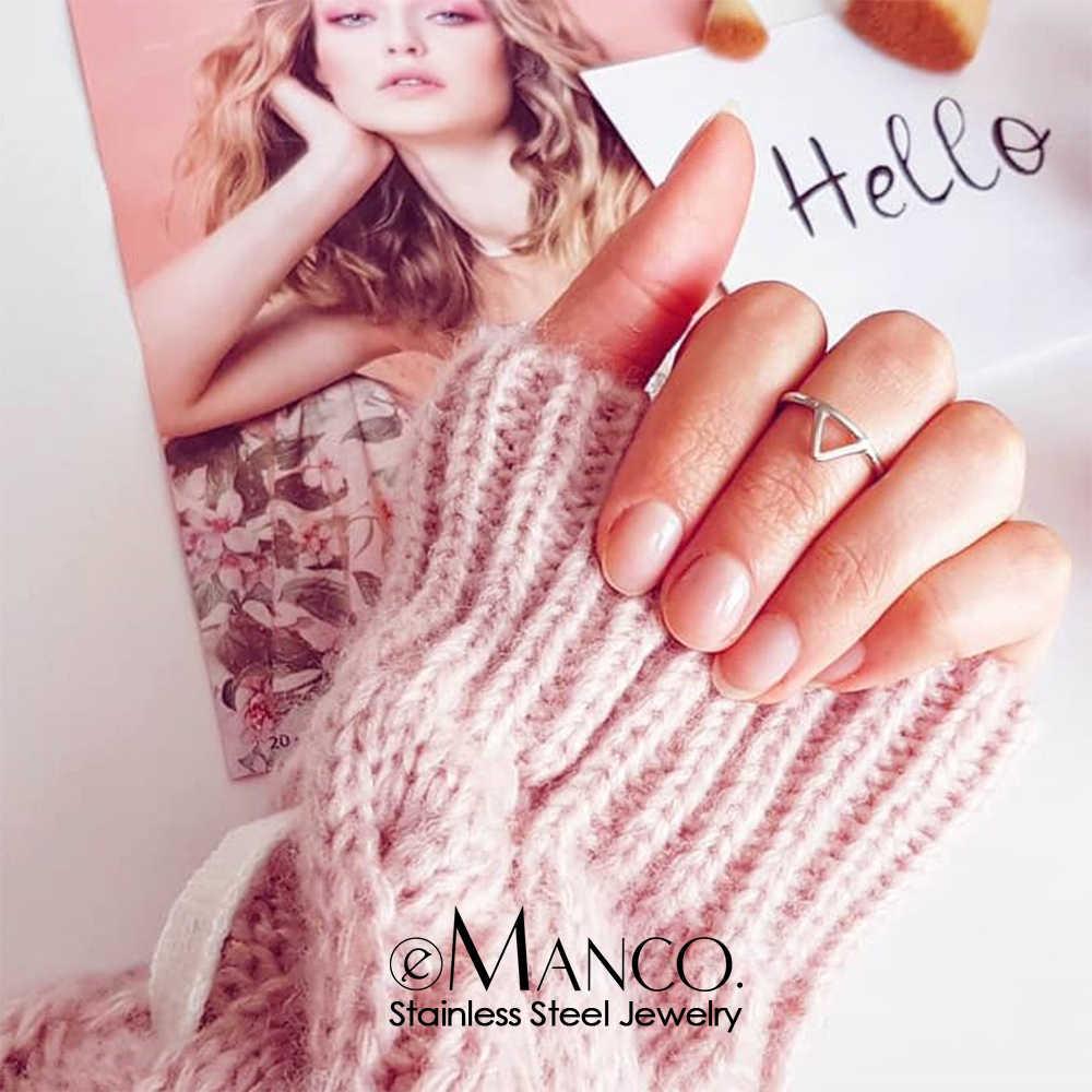 טבעת אצבע מינימליסטי פאנק נירוסטה טבעות לנשים מעדן משולש טבעת תכשיטים זרוק משלוח סיטונאי