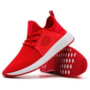 Image 4 - 2019 Fashion Men Shoes Casual Weaving Fly Mesh Breathable Light Soft Black Slipon Mens Shoe Male Trainers Sneakers Human Race