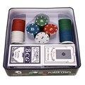 O lado dobro imprimiu as microplaquetas de poker europeias profissionais ajustadas com cartões de jogo moedas acessórios do jogo de poker