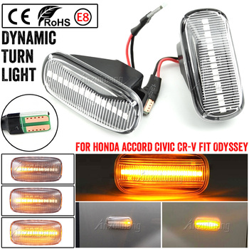 For CRV Accord City Fit Jazz HRV Civic Stadt Stream Odyssey RSX NSX Led Dynamic Turn Signal Light Side Marker Sequential Lamp image