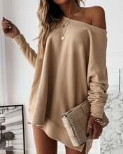 Женские модные повседневные топы с длинным рукавом женские осенние