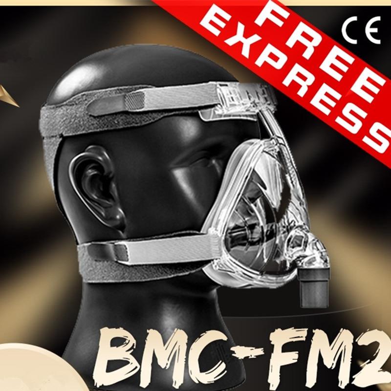 BMC FM2 Full Face Mask CPAP Auto CPAP APAP BIPAP Machine Size S/M/L CPAP Full Face Mask For Anti Snoring And Sleep Aiding APNEA