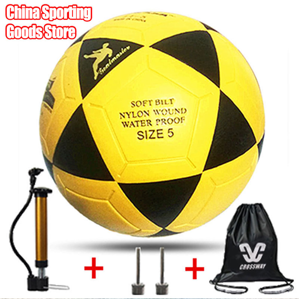Pu Non Slip Seamless Football, Suitable For Football Training, Football Gift, Football, Giving Air Pump + Air Needle + Bag